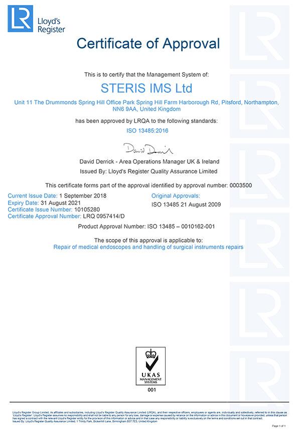 Compliance | STERIS Instrument Management Services
